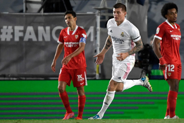 Hasil Pertandingan Real Madrid vs Sevilla Liga Spanyol